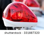 Closeup Of Red Police Light ...