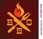 barbecue party grill logo... | Shutterstock .eps vector #331889408