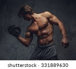 shirtless bodybuilder showing... | Shutterstock . vector #331889630