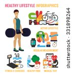 healthy lifestyle infographic.... | Shutterstock .eps vector #331898264