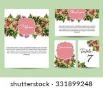 invitation with floral... | Shutterstock .eps vector #331899248