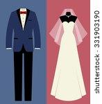 icon set  tuxedo  wedding dress ... | Shutterstock .eps vector #331903190