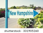 New Hampshire Road Sign With...