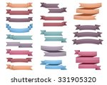 ribbons  one  two and three... | Shutterstock .eps vector #331905320