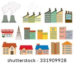 different kind of buildings... | Shutterstock .eps vector #331909928