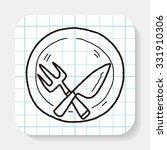 dishware doodle   Shutterstock .eps vector #331910306