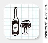 wine bottle doodle | Shutterstock .eps vector #331910378