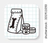 doodle pet food | Shutterstock .eps vector #331911050