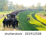 austria builds a fence the... | Shutterstock . vector #331912538