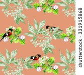 watercolor virginia creeper... | Shutterstock . vector #331915868