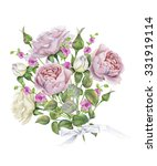 watercolor bouquet of delicate... | Shutterstock . vector #331919114