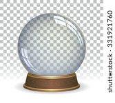 Empty snow globe