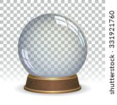 empty snow globe | Shutterstock .eps vector #331921760