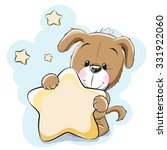 dog with a star on a stars... | Shutterstock .eps vector #331922060