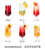 set of alocohol coctails... | Shutterstock . vector #331933478