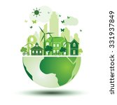 green city with green eco earth ...   Shutterstock .eps vector #331937849
