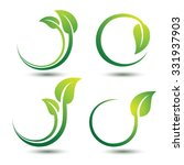 green labels concept with... | Shutterstock .eps vector #331937903
