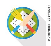 tableware flat icon | Shutterstock .eps vector #331940354