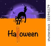 vector halloween background... | Shutterstock .eps vector #331941179