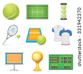 tennis icons set | Shutterstock .eps vector #331942370