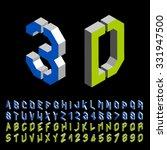 vector 3d stencil angular...   Shutterstock .eps vector #331947500