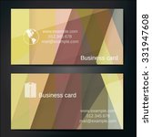 stylish business cards with... | Shutterstock .eps vector #331947608