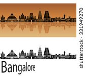 Bangalore Skyline In Orange...