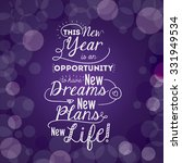 motivational message new year... | Shutterstock .eps vector #331949534