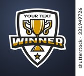 winner. sports trophy  logo ... | Shutterstock .eps vector #331949726