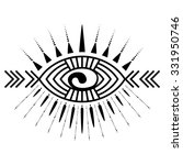 stylized ornamental eye. tribal ... | Shutterstock .eps vector #331950746