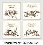 hand drawn vector illustrations ... | Shutterstock .eps vector #331952369
