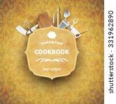 cover cookbook vintage design... | Shutterstock .eps vector #331962890