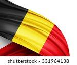 Belgium   Flag Of Silk With...