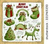 set of christmas elements   Shutterstock .eps vector #331965350