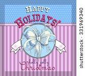 design christmas card   Shutterstock .eps vector #331969340
