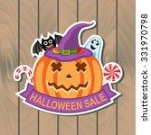halloween sale banner   Shutterstock .eps vector #331970798