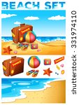 vacation theme on the beach... | Shutterstock .eps vector #331974110