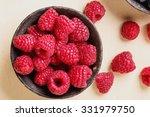 Raspberries In Black Metal Bow...