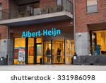 Small photo of MAASEIK, BELGIUM - OCTOBER 23: Belgian Affiliate of Albert Heijn, the biggest Dutch supermarket chain in The Netherlands owned by Ahold, a Dutch international retailer