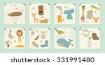 cute zoo alphabet with funny... | Shutterstock .eps vector #331991480