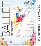 ballet background. flyer ... | Shutterstock .eps vector #331991780