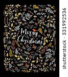 merry christmas vector... | Shutterstock .eps vector #331992536