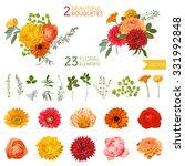 Vintage Flowers And Leaves   I...