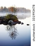 Stock photo misty morning by the lake in autumn 331993478
