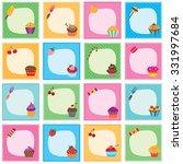 cupcake frames set | Shutterstock .eps vector #331997684