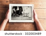 picture frame with wedding... | Shutterstock . vector #332003489