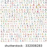 mega collection of abstract... | Shutterstock .eps vector #332008283