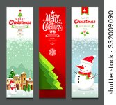 merry christmas  banners design ... | Shutterstock .eps vector #332009090
