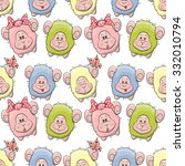 cute sheep seamless pattern for ... | Shutterstock .eps vector #332010794