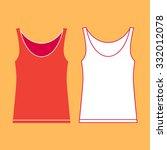 illustration of two vests on... | Shutterstock .eps vector #332012078